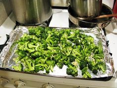 best broccoli...olive oil, salt, pepper, garlic, 425 for about 20 minutes....then top with parmesan cheese and lemon juice