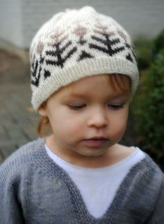 Little Fair Isle Hat - the purl bee.  I am pretty sure my grandson needs this little hat and probably sweater too.