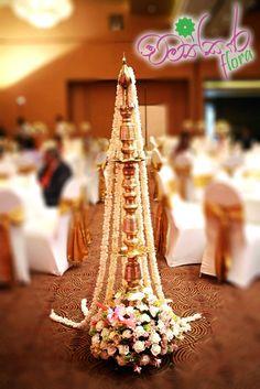 Diwali Decorations, Indian Wedding Decorations, Wedding Themes, Flower Decorations, Oil Lamp Decor, Home Flower Decor, Buddhist Wedding, Srilankan Wedding, Ganapati Decoration
