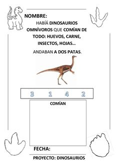 Proyecto completo dinosaurios. programación, fichas, recursos,pdf Dinosaur Theme Preschool, Numicon, David, Dinosaurs, Activities, Montessori Activities, Infant Learning Activities, Science Classroom, School