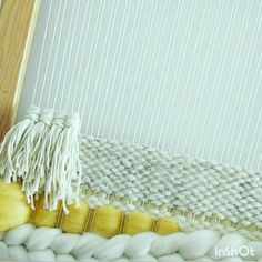 How to create a rya knot on two warp strings weaving tutorial weaving techniques diy craft weaving for beginners music pixel swing com music double crochet dc Weaving Loom Diy, Weaving Art, Tapestry Weaving, Loom Weaving Projects, Rug Loom, Weaving Textiles, Knitting Projects, Hand Weaving, Macrame Wall Hanging Diy