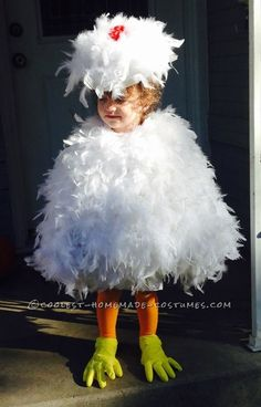 Cutest Toddler DIY Chicken Costume on a Budget...