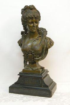 "French Bronze Bust of Woman, Paul Duboy Century, Titled ""Beatrix"" Sculpture Art, Sculptures, 19th Century, Buddha, Bronze, Statue, French, Woman, Ebay"
