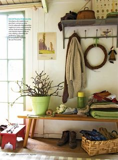 Love this look from Country Living Country Decor, Rustic Decor, Country Living Magazine, French Country House, Elle Decor, House Rooms, Colorful Interiors, Ladder Decor, Sweet Home