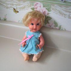 Vintage Mattel Pull String Baby Small Talk