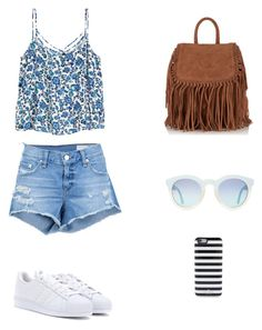 """""""summer outfit"""" by idamariahaapanen on Polyvore featuring rag & bone/JEAN, adidas, Superdry and Kate Spade"""