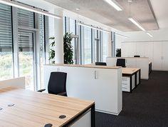 Großraumbüro, Gruppenbüro, Einrichtung