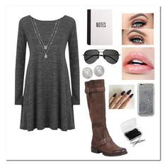 """""""3/16/17"""" by emilyxcourtney ❤ liked on Polyvore featuring Miz Mooz, Agent 18, Yves Saint Laurent and Forever 21"""