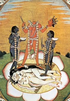 paintings of hindu god kali - Google Search