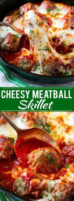 Keto it! Cheesy Meatball Bake Recipe | Meatball Skillet | Italian Meatballs | Baked Meatball Recipe