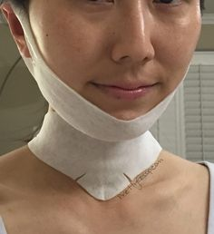 BEST Korean Chin and Neck Gel Mask. Looks funny, but it really lifts and firms. Click for more details on PrettyGossip.com #Korean #mask #beauty