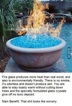 Fire Glass - would be cool at an outdoor reception