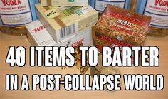 40 Items to Barter in a Post-Collapse World, shtf, survival, diy, food, shtf preparedness, stockpile, barter items, what items to barter, items to barter,