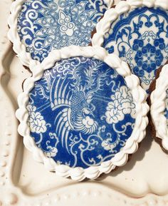 Cookie Pixie: Blue Chinese Porcelain Cookies CAN YOU BELIEVE THIS IS A COOKIE!!!!!!!