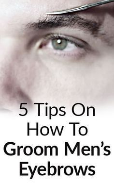 We show you how to groom men's eyebrows and clean them up so that they still look masculine.