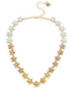 Betsey Johnson Gold-Tone Ombré Glitter Star Collar Necklace