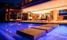 Interior view over the pool _FEEU property designers