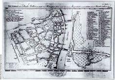 Grundriss der Stadt Stettin innerhalb den Festungswerken und deren neuen Bezirks – Eintheilung: 1812