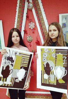 "Студия изобразительного искусства ""МАТИСС"" Drawing For Kids, Art For Kids, Kindergarten Focus Walls, Visual Art Lessons, Lino Art, 7th Grade Art, Russian Folk Art, Chinese Patterns, Black And White Painting"