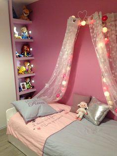 Chambre de princesse rose pastel for Decoration chambre princesse