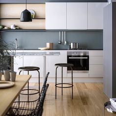 Design your kitchen to make it more comfortable – 8 useful tips - Kitchen Remodel Contemporary Kitchen Renovation, Modern Kitchen Interiors, Home Decor Kitchen, Apartment Kitchen, Contemporary Design, Kitchen Ideas, Scandinavian Interior Design, Scandinavian Kitchen, Design Your Kitchen