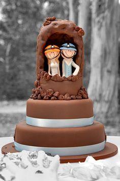 Spelunking wedding cake