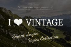 I ♥ Vintage — Smart Text Styles by Design as Religion on @creativemarket