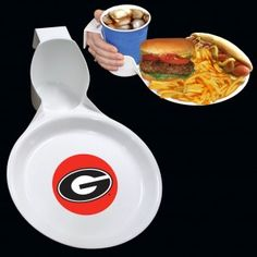 Georgia Bulldogs Ultimate Party Plate from TailgateGiant.com