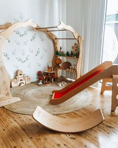 Playroom Montessori Waldorf wooden toys Playroom M. - Playroom Montessori Waldorf wooden toys Playroom Montessori Waldorf w - Playroom Montessori, Waldorf Playroom, Montessori Baby, Waldorf Toys, Playroom Organization, Playroom Ideas, Organization Ideas, Toy Rooms, Kid Spaces