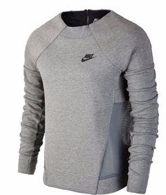 Nike Womens Tech Fleece Mesh Crew Sweatshirt Sz Small 725852 091 MSRP  120  RARE 93cc1aace5