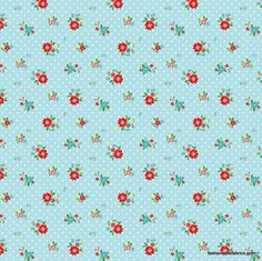 Fabric... The Simple Life Floral on Aqua by Riley Blake Designs