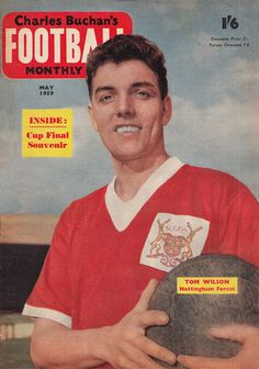 July Nottingham Forest centre forward Tommy Wilson, at the City Ground. Nottingham Forest Fc, Tom Wilson, Football Memorabilia, Magazines, Centre, Baseball Cards, City, Journals, Cities