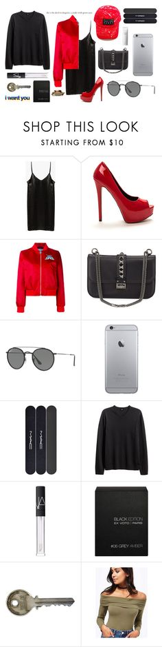 """""""its party time"""" by romydveen ❤ liked on Polyvore featuring Carven, Valentino, Ray-Ban, MAC Cosmetics, H&M, NARS Cosmetics, Ex Voto Paris, Miss Selfridge, Shiseido and party"""
