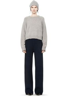 T by ALEXANDER WANG WIDE LEG CARDIGAN PANTS