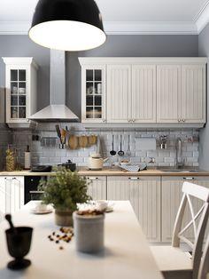 интерьер кухни 8 кв. метров в скандинавском стиле