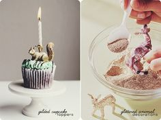 Glittered Animals - cute idea...{The Ardent Sparrow}: Weekend Project {Party Decorations}