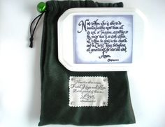 Verse Plaque & Fabric Gift Bag.  Now to Him who is by WordofGod, $20.00