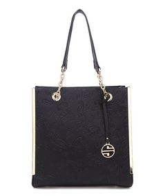 Love this Black Paisley Embossed Tote by Segolene Paris on #zulily! #zulilyfinds