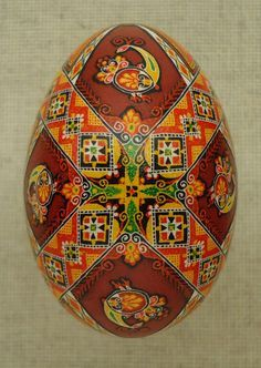 "Pysanky-Ukrainian Easter Eggs.  A note on pronunciation, despite what you may have heard on television, a supplier of pysanky tools or from an instructor in a local class, ""Pysanka"" is correctly pronounced ""Pih-sahn-kah""  with the plural ""Pih-sahn-kih"". All with short vowels.  The term ""pysanky"" is not, never was, nor will it ever be correctly pronounced ""pie-SAN-kee or pizz-an-ki"""