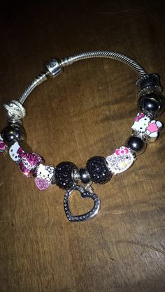 95f17c240 The beautiful pandora hello kitty bracelet my love got me for Valentine's  Day