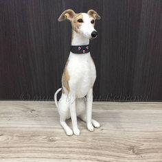 b865a1814bf6f Needle felted 100% wool doll Whippet   Greyhound   Italian greyhound    Lurcher dog MINIATURE