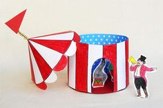 Crafts For Kids To Make, Projects For Kids, Kids Crafts, Arts And Crafts, Circus Birthday, Circus Theme, Circus Tents, Circus Train, Carnival Tent