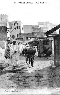 Street scene old Casablanca, the type of street that Kurt and Sarah traveled in the Medina, or old quarter, in search of information from a double agent. Old Pictures, Travel Pictures, Old Photos, Travel Pics, Marrakech, Moroccan Art, Excursion, Arabian Nights, Travel Memories