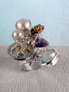 Gregory Pyra Piro #Schmuckkunst Silber und Gold mit #Edelsteinen Unikat #Ring Nr. 2050