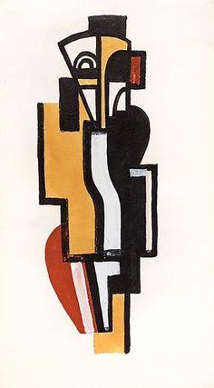 Fernand Leger `LE MASQUE AFRICAIN`   Art Experience NYC  www.artexperiencenyc.com/social_login/?utm_source=pinterest_medium=pins_content=pinterest_pins_campaign=pinterest_initial