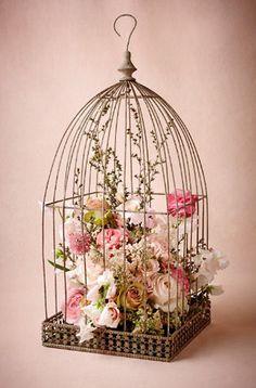 Floral Vintage, Vintage Birds, Vintage Diy, Vintage Birdcage, Decor Vintage, Vintage Clocks, Logo Vintage, French Vintage, Hanging Bird Cage