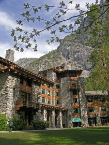 The Ahwahnee Lodge Yosemite. Planned a wedding here once. Great fun - winter wonderland theme.