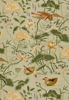 Aesthetic Oiseau: Schumacher Lotus Garden