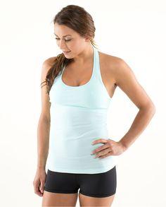 Baby Blue Yoga Shirt and Black Yoga Shorts