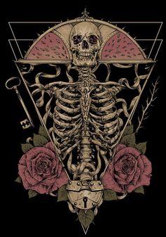 Skull Artwork, Skeleton Art, Skull Wallpaper, Goth Art, Witch Aesthetic, Illustration, Anatomy Art, Skull And Bones, Dark Art